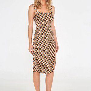 Farm Rio Graphic Cashew Midi Slip Dress *NWT!*